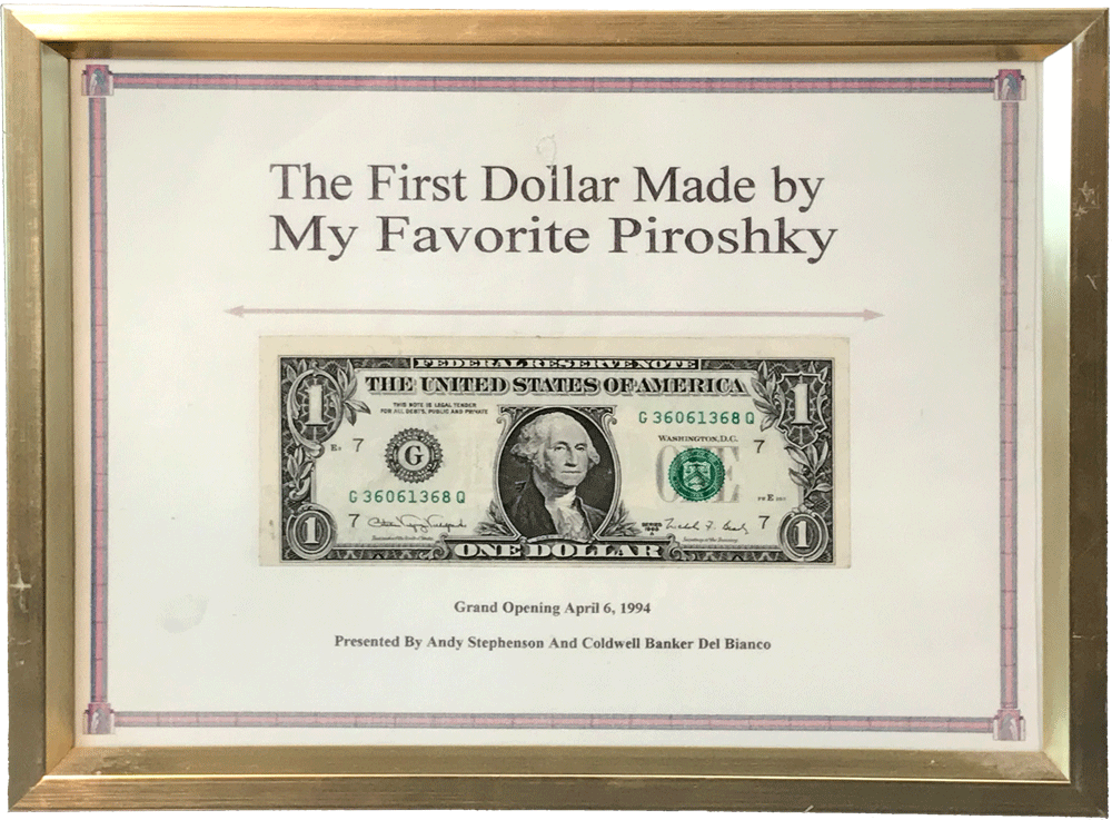Our first dollar